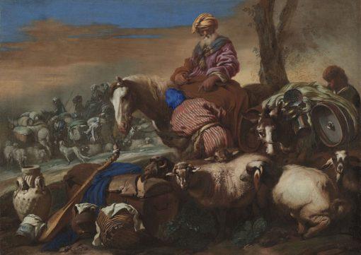 The Oath of Abraham's Servant | Giovanni Castiglione | Oil Painting