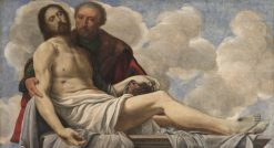 Christ with Joseph of Arimathea | Giovanni Girolamo Savoldo | Oil Painting