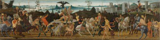 Tarquinius Priscus Entering Rome   Jacopo del Sellaio   Oil Painting