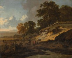 Landscape with Hunters   Jan Wijnants   Oil Painting