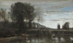 Pond at Ville d'Avray | Jean Baptiste Camille Corot | Oil Painting