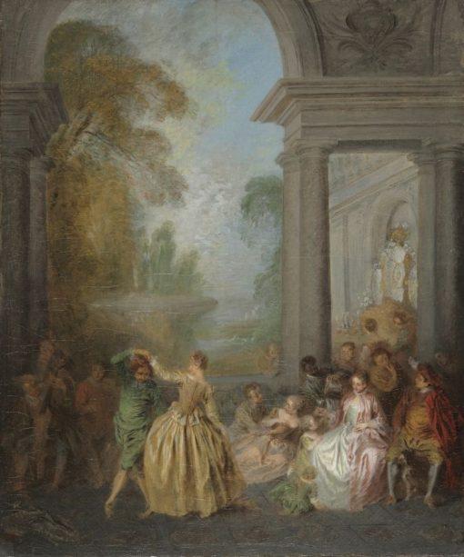 Dancers in a Pavilion | Jean Baptiste Pater | Oil Painting