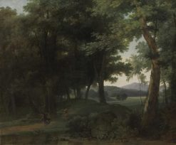 A Forest with Apollo and Daphne   Jean Victor Bertin   Oil Painting