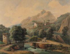 Paysage Italien: L'Abbaye et Les Religieux | Jean Victor Bertin | Oil Painting
