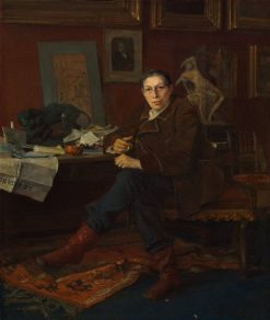 Albert Wolff in His Study | Jules Bastien Lepage | Oil Painting