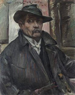 Self-Portrait with Hat and Coat | Lovis Corinth | Oil Painting
