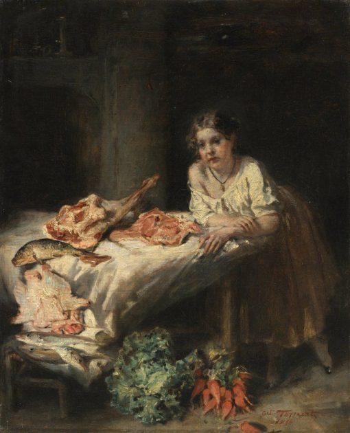 The Bourgeois Kitchen | Octave Tassaert | Oil Painting