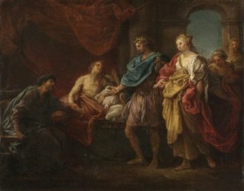 Antiochus and Stratonice (study) | Pompeo Batoni | Oil Painting