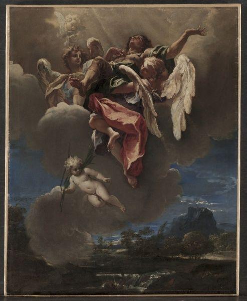 "Study for ""The Apotheosis of a Saint""   Sebastiano Ricci   Oil Painting"