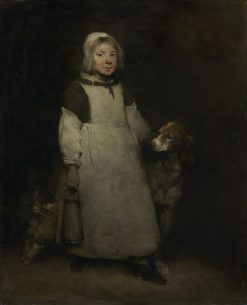 The Little Milkmaid | ThEodule Augustin Ribot | Oil Painting