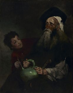 Lazarillo de Tormes and His Blind Master | ThEodule Augustin Ribot | Oil Painting