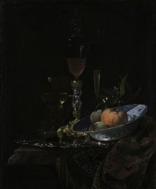 Wine Glass and Bowl of Fruit | Willem Kalf | Oil Painting