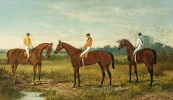 Winners in the Derby | Harry Hall | Oil Painting