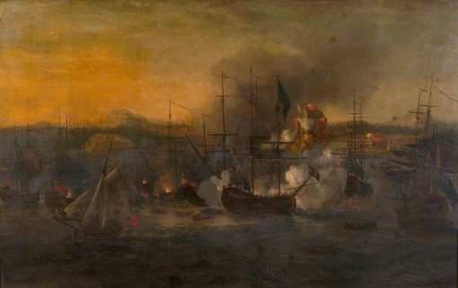 Bombardment of Castillo San Lorenzo by Admiral Vernon | John Cleveley the Elder | Oil Painting