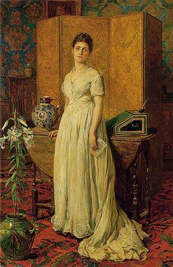 Yesterday (The Letter) | John Seymour Lucas | Oil Painting