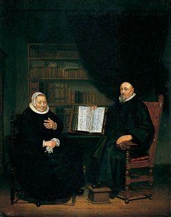 Burgomaster and His Wife | Michiel van Musscher | Oil Painting