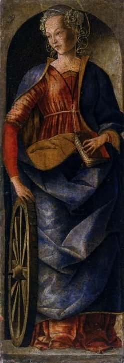 Saint Catherine of Alexandria (from the Griffoni Altarpiece) | Ercole de' Roberti | Oil Painting