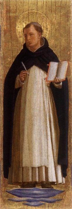San Marco Altarpiece ~ Saint Thomas Aquinas | Fra Angelico | Oil Painting
