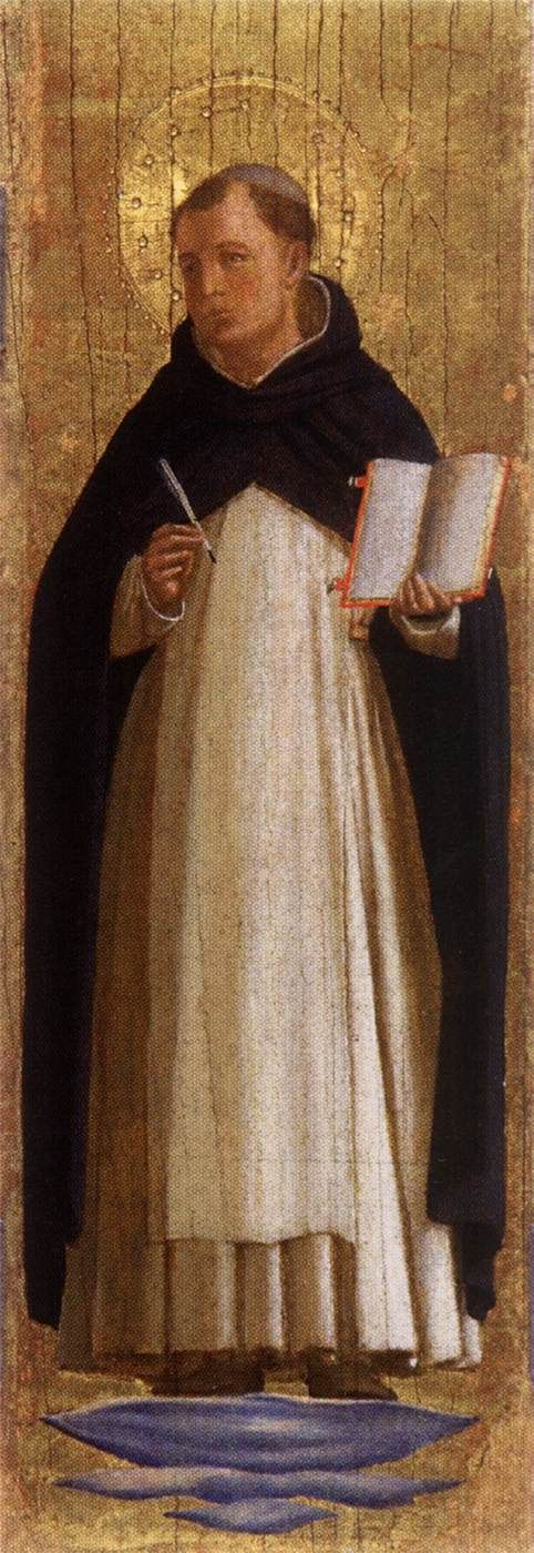 San Marco Altarpiece ~ Saint Thomas Aquinas | Fra Angelico | Oil Painting