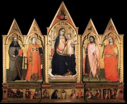 Virgin Enthroned with Saints | Lorenzo di Niccolò | Oil Painting