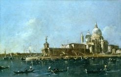 View of the Grand Canal with the Dogana | Francesco Guardi | Oil Painting