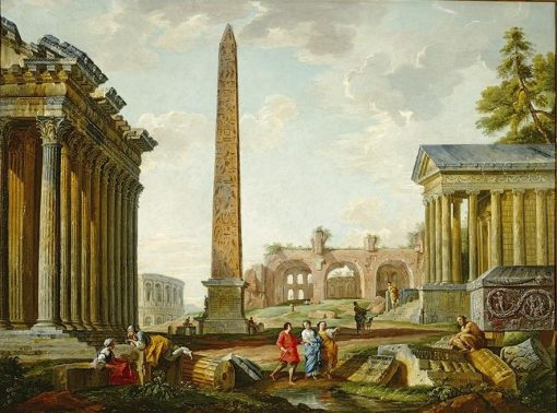 Imaginary Landscape with Roman Ruins | Giovanni Paolo Panini | Oil Painting