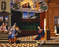The Annunciation | Girolamo da Santa Croce | Oil Painting