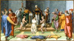 Saint Augustine Giving the Habit of His Order to Three Catechumens | Girolamo Genga | Oil Painting