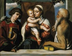 Virgin and Child with Saints Stephen and Jerome | Moretto da Brescia | Oil Painting