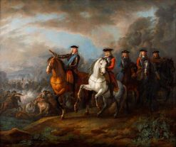 The Duke of Marlborough and the Earl of Cadogan at Blenheim (Hochstadt) | Pieter van Bloemen | Oil Painting