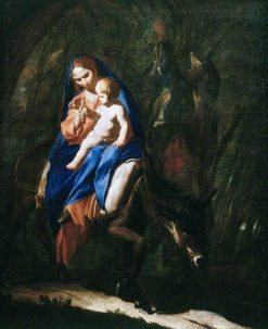 The Flight into Egypt | Bernardo Cavallino | Oil Painting