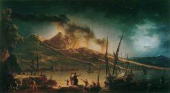 Vesuvius Erupting | Charles Francois Grenier de Lacroix | Oil Painting