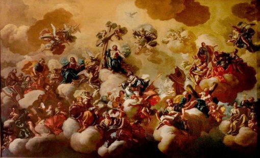 Saint Nicholas of Bari Received into Paradise | Francesco de Mura | Oil Painting