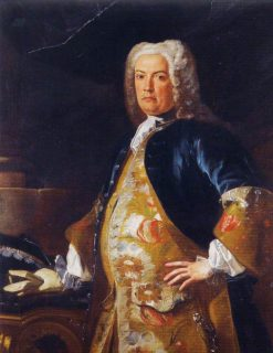 Portrait of a Nobleman leaning his Gloved Hand on a Console Table | Francesco Solimena | Oil Painting