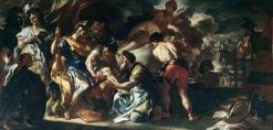 Venus with Lapis Tending the Wounded Aeneas (sketch) | Francesco Solimena | Oil Painting