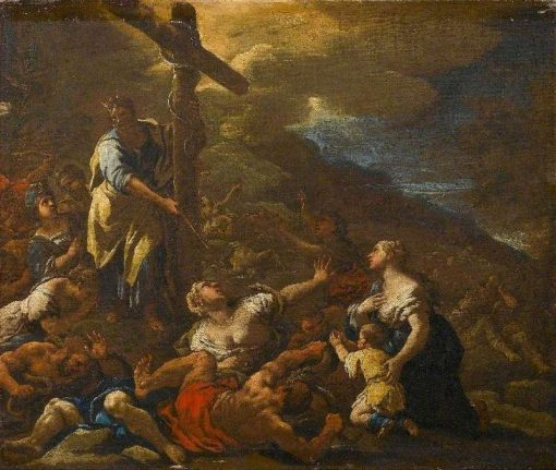 Moses and the Brazen Serpent | Luca Giordano | Oil Painting