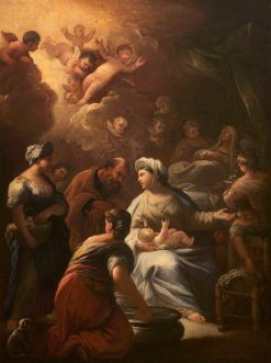 The Birth of the Virgin | Luca Giordano | Oil Painting