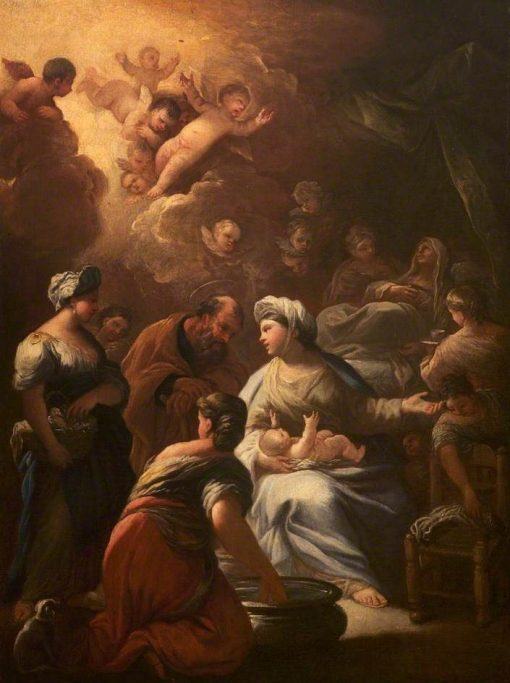 The Birth of the Virgin   Luca Giordano   Oil Painting