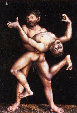 Hercules and Antaeus | Lucas Cranach the Elder | Oil Painting