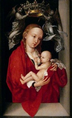 Maria Lactans' The Virgin and Child Crowned by Angels | Martin Schongauer | Oil Painting