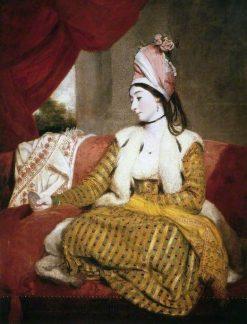 Mrs Baldwin in Eastern Dress   Sir Joshua Reynolds   Oil Painting