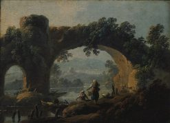 Landscape with Rustic Figures | Jean Pillement | Oil Painting