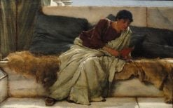A Difficult Line from Horace | Sir Lawrence Alma Tadema | Oil Painting