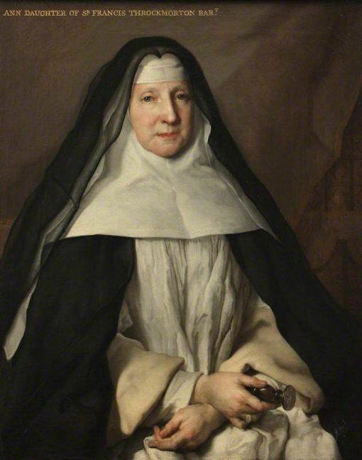 Anne Frances Throckmorton (1664-1734)   Nicolas de Largilliere   Oil Painting