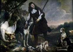 Huntsman with His Dogs and Game | Pieter Boel | Oil Painting