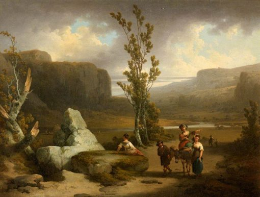 View on the Wye | Julius Caesar Ibbetson | Oil Painting