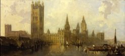 Sketch for The Houses of Parliament | David Roberts | Oil Painting
