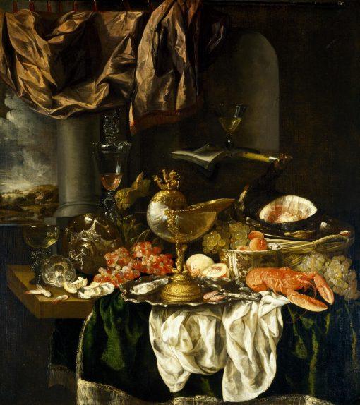 Still Life with Landscape   Abraham van Beyeren   Oil Painting