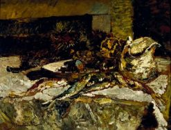 Still Life with Sardines and Sea Urchins | Adolphe Joseph Thomas Monticelli | Oil Painting