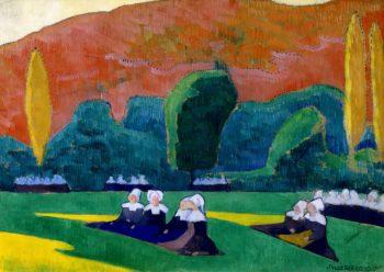 Breton Women Attending a Pardon | Emile Bernard | Oil Painting